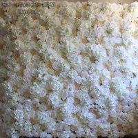 Dekorative Blumen Kränze Tongfeng 10 teile / los Künstliche Seide Rose Pfingstrose Hortensie 3D Blume Wand Hochzeit Hintergrund Hintergrund Dekoration Läufer