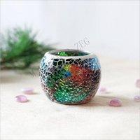 Mozaïek kaarshouder kristal glas kandelaar bruiloft kandelaar votive kaarshouder Valentijnsdag thuis bruiloft decoratie DDC3532