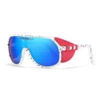 Pit Viper Sunglasses New Chegou Eyewear Espelhado Tr90 Frame UV400 Proteção Z87 + Lente Goggles de Segurança 10 Cores com Caso