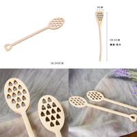 Esperança para fora Honey Cafeteira Calças de Madeira Dipper Madeira Muddler Bee Honeystick Versátil Durável Spoons Cozinha 2 06DC M2