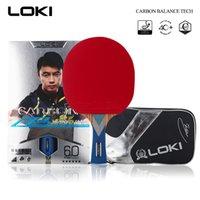Loki 6 نجوم المهنية تنس الطاولة مضرب الكربون بليد pingpong المنافسة الخفافيش بينغ بونغ مجداف للهجوم السريع والقوس 201019