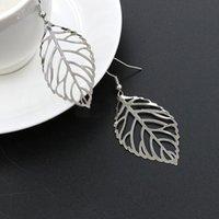 FactoryPG4lexQuisite a Europa e Moda Simplicidade América Forest Folhas Brincos Hot Selling Metal Leaf Folha Efri