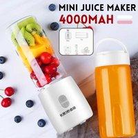 Juicer eléctrico portátil USB recargable Nini Juice Maker Máquina batidora Máquina mezcladora Taza de jugo Copa rápida Multifunción