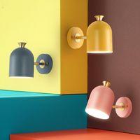 Wandleuchte Nordeuropa Kreative Lichtfarbe Makaronkorridor Single-End Das Studium Schlafzimmer Kunstmaschine Kopf Runde Multicolor