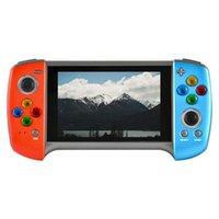 휴대용 게임 플레이어 X18Plus 핸드 헬드 콘솔 4.3 인치 대형 SN 듀얼 조이스틱 콘솔, TV에 연결 지원
