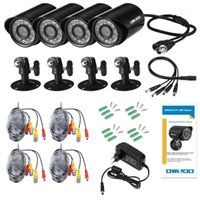 الأنظمة OWSOO 4 * 720P 1500TVL AHD ماء cctv كاميرا + 4 * 60ft كابل المراقبة كابل دعم ir-cut light عرض 24 قطع مصابيح الأشعة تحت الحمراء 1