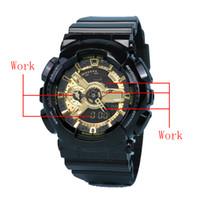 Venda Top Alta Qualidade Mens Relógios Militares All Functional Quartzo Movimento Relógio À Prova D 'Água Exército Moda Sport Sportwatch Silicone Strap