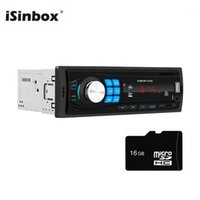 Isinbox 블루투스 라디오 자동차 스테레오 1 DIN 자동차 오디오 MP3 플레이어 UDisk FM TF Aux 헤드 유닛 라디오 Coche 1din Estereos Para Auto1