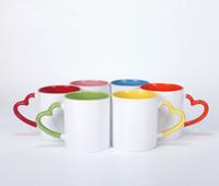 DIY 11oz 승화 세라믹 커피 머그잔 빈 열전달 세라믹 컵 개성 열전달 워터 텀블러