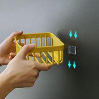 الحائط شنت الجرف لاصق الأنسجة مربع منديل ورق التواليت حامل البلاستيك حقيبة القمامة موزع كيكثين تخزين الحمام Rack1 EEF4856