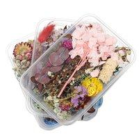 1box mélange de mélange style desséché de fleurs séchées décoration naturelle autocollant floral beauté nage art décalques époxy moule bricolage bijoux h jllgzt
