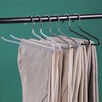 Kesintisiz z-şekilli pantolon raf dolap paslanmaz çelik dip plastik kaymaz pantolon askısı askı havlu askısı ev kanca