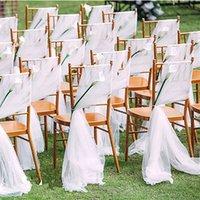 Chaise de mariage de jardin romantique Couverture de mariage Retour Sashes Banquet Décor Anniversaire de Noël Anniversaire Formel Chaise de mariage Sashes Yybe3126
