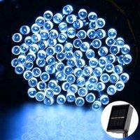 Mais novo Design Brand New White 100 LED Solar String Fairy Light Festa de Natal À Prova D 'Água Feriado Iluminação Cordas Material de Alta Qualidade