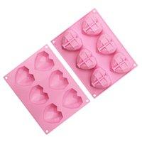 8 cavity الماس الحب القوالب سيليكون على شكل قلب ل cakes الإسفنج موس الشوكولاته الحلوى خبز المعجنات العفن