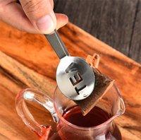 New Repearable Reousable Reasable из нержавеющей стали Чайник Togs Teak Squeezer Сильничника Держатель сжимания Meet Metal Spon Mini Sugar Clip Tea Cleans 9093