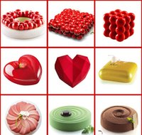 Sile Cakes Baking Tools Heart Cake Make For Chocolate Molds Dessert Brownie Mousse 3d Round Mold Dish Pan Decorating sqcTl homes2007