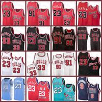 23 Michael Mens Scottie 33 Pippen Youth Kids Dennis 91 Rodman Chicagoالثور 2020 2021 جديد كرة السلة جيرسي الثور الرجال