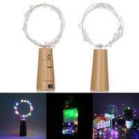 최고의 2m 20 LED 미니 병 마개 램프 문자열 막대 장식 문자열 빛 다채로운 빛 지구 색상 전체 고휘도 LED 문자열