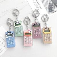 Keychains Student Niedliche Tragbare Mini Bell-Rechner Schlüsselanhänger Anhänger Super dünne Tasche Keychain