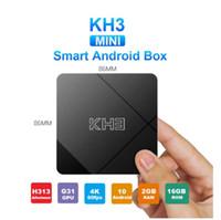 Android 10.0 MECOOL KH3 Smart TV Box 2 GB 16 GB Allwinner H313 Quad Core 2.4G Wifi 100m LAN HDR 3D Smart TV-Box Media Player vs x96q Max