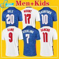 Kane Rashford Sancho Sancho Soccer Jersey 2021 Sterling Mount Abraham Dele Coady National Social Camisas de futebol Homens + Kids Kit 20 21