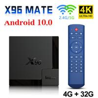 x96mate 안드로이드 10.0 스마트 TV 박스 4GB 32GB 듀얼 밴드 와이파이 2.4G / 5G 블루투스 Allwinner H616 쿼드 코어 세트 탑 박스 x96 Mate 미니 TVBox