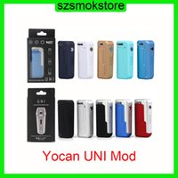 YoCan Uni Box Mod 650mAh 조정 가능한 전압 및 예열 배터리 10 색상 모든 Atomizer PK vmod Palm 0266285