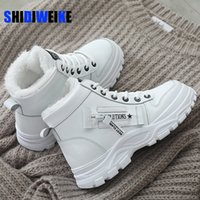 Women Winter Snow Boots New Fashion Style High-top Shoes Casual Woman Waterproof Warm Woman Female High Quality White Black 201126