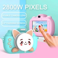 Çocuk kamera dokunmatik ekran 2800 w megapiksel küçük slr oyuncak fotoğraf çekebilir dijital küçük öğrenci taşınabilir mini1