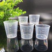 20ml / 30ml / 50m / 100ml 투명한 측정 컵 규모 식품 학년 플라스틱 DIY 베이킹 부엌 바 다이닝 액세서리에 대 한 플라스틱 측정 도구