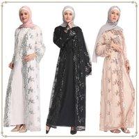 2019 Moda Dubai Kadın Giyim Dantel Abaya Kimono Müslüman Kadınlar Için İslami Arap MAXI Hırka Açık Abaya1