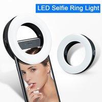 Taşınabilir LED Selfie Yüzük Işık Flaş Cep Telefonu Dizüstü Için Youtube Tiktok Video USB Şarj Edilebilir Klip Halka Lambası Için Işık