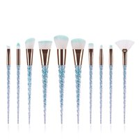30 Компрессорные кисти для макияжа Устанавливает Unicorn Maquiagem Foundation Powder Cosmetic Blush Timeshadow Женщины Красота 10 шт. / Комплект Макияж Кисть Инструменты R10002