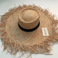 Zjbechmu moda novo sol sólido sol para as mulheres tampas de verão ao ar livre máscara de férias praia Dobrável chapéus de palha Fedoras Y200714