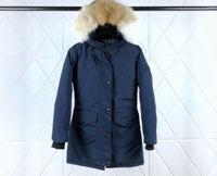 Mulheres longas casaco para baixo jaqueta de inverno com casaco de inverno de pele beber jaqueta warm outfit OURDOOR Roupas de Overcoat Roupas de Alta Grade-5