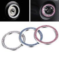 Yolu 1 pcs Automobiles Démarrer le bouton Commutateur Bouton Décoratif Diamant Strass Anneau Voiture SUV Bling Accessoires décoratifs