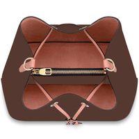 Sacos de Ombro de Alta Qualidade Moda Womens Handbags Bolsa de couro de impressão clássico 26 cm Senhora Balde Saco