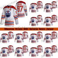 Edmonton Oilers 2021 Retro Retro Jersey 97 Connor McDavid 29 Leon Draisaitl 74 LNB 74 Ethan Bear Hockey Jerseys