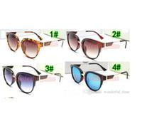 Quente Verão Novos Homens Fashion Clássicos Círculo Quadro Óculos Praia Óculos de Sol Mulheres Andar Ao Ar Livre Ciclismo Sunglasses 4 Cores Frete Grátis