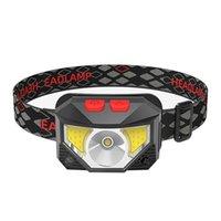LED USB 충전 헤드 라이트 유도 적색 램프 멀티 기어 강한 전조등 야외 야외 야간 조명 스포츠 장비 실행 낚시 19yx N2