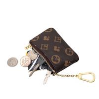 Mini Klasik Cüzdan Çanta Marka Tasarımcısı Fermuar Sikke Çanta Deri Anahtar Çanta Unisex Deri Çanta Anahtarlık Çanta ve Cüzdan Sikke LJ200914