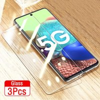 3 pcs HD Proteção completa Vidro temperado para Samsung Galaxy A71 A51 A31 A41 A81 A91 A50 A50 A10 A3 A10 A10 Protetor de tela