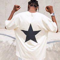 Famosos camisetas para hombre camisetas de verano Pentagram estampado calle ropa moda hombres Hip hop de manga corta camisetas tamaño S-XXL