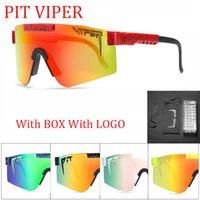 New Double Wides Marca Rosa Red Pit Viper Sun óculos de sol dupla largura polarizada lente espelhada tr90 quadro uv400 proteção wih caso