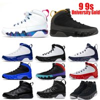 9 Université Gold Gold Hommes Chaussures de basketball Orange Unc Dream It Dark Concord FIBA ​​Frippe inverse Game 9S Breed Sneakers