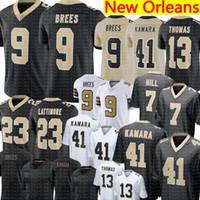 Brees 9 Drew Brees Jersey 41 Alvin Kamara 7 TayaM Hill Jersey 13 Michael Thomas 23 Marshon Lattimore Futebol Jerseys S-XXXL