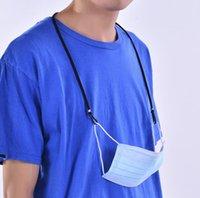 Maschera cordino regolabile hang corda di sicurezza viso maschera di riposo supporto orecchio corda appendere sulla stringa del collo per maschera antima perdita 10 colori cce1559