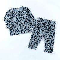 Faceyousous fahsion повседневный малыш дети детские девушки одежда с длинным рукавом вершины леопарда напечатанные брюки пижама