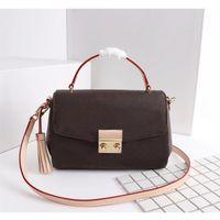 الأصلي عالية الجودة الأزياء حقائب اليد المحافظ croisette حقيبة المرأة الكلاسيكية نمط جلد طبيعي حقائب الكتف بيع جدا
